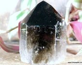 Black Smoky Quartz Tower, Raw Smoky Quartz with Polished Point, Black Smoky Quartz Tower, Crystal Tower ~1871