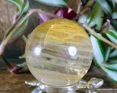 Yellow Fire Quartz Sphere, Hematoid Quartz Crystal ~1829