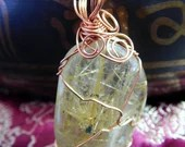 Gold Rutilated Quartz Pendant ~1011