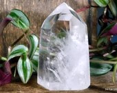 Polished Clear Quartz Tower, Crystal Tower, Quartz Point ~1995