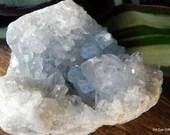 Celestite Crystal Cluster,  Cluster, Celestite Geode, Crown Chakra crystal, Calming Crystal, Crystal for Prophetic Dreams ~2151