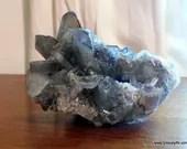 Large Smoky Quartz Cluster, Lemurian Smoky Quartz Cluster ~1144