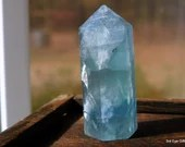 Rainbow Fluorite Crystal Tower, Green Fluorite Crystal Point, Mini Crystal for Altar and Grids ~2056