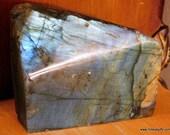 Raw Labradorite, Blue & G...