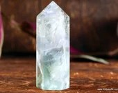Green Fluorite Crystal Tower Altar Tool ~1532