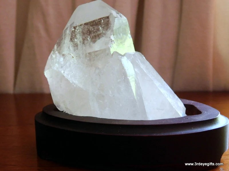Crystal Cluster with Wood...