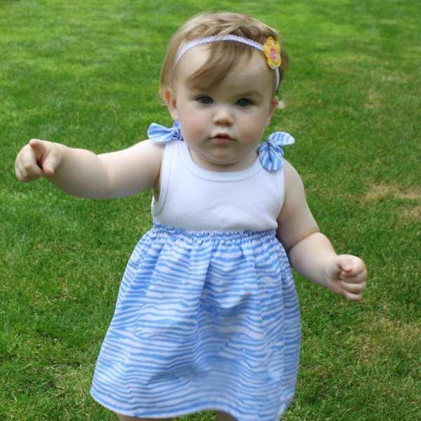 Baby Onesie T-shirt Dress Pdf Pattern Easy Sewing
