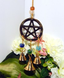 decor wiccan pagan altar outdoor pentacle indoor chime bells wind