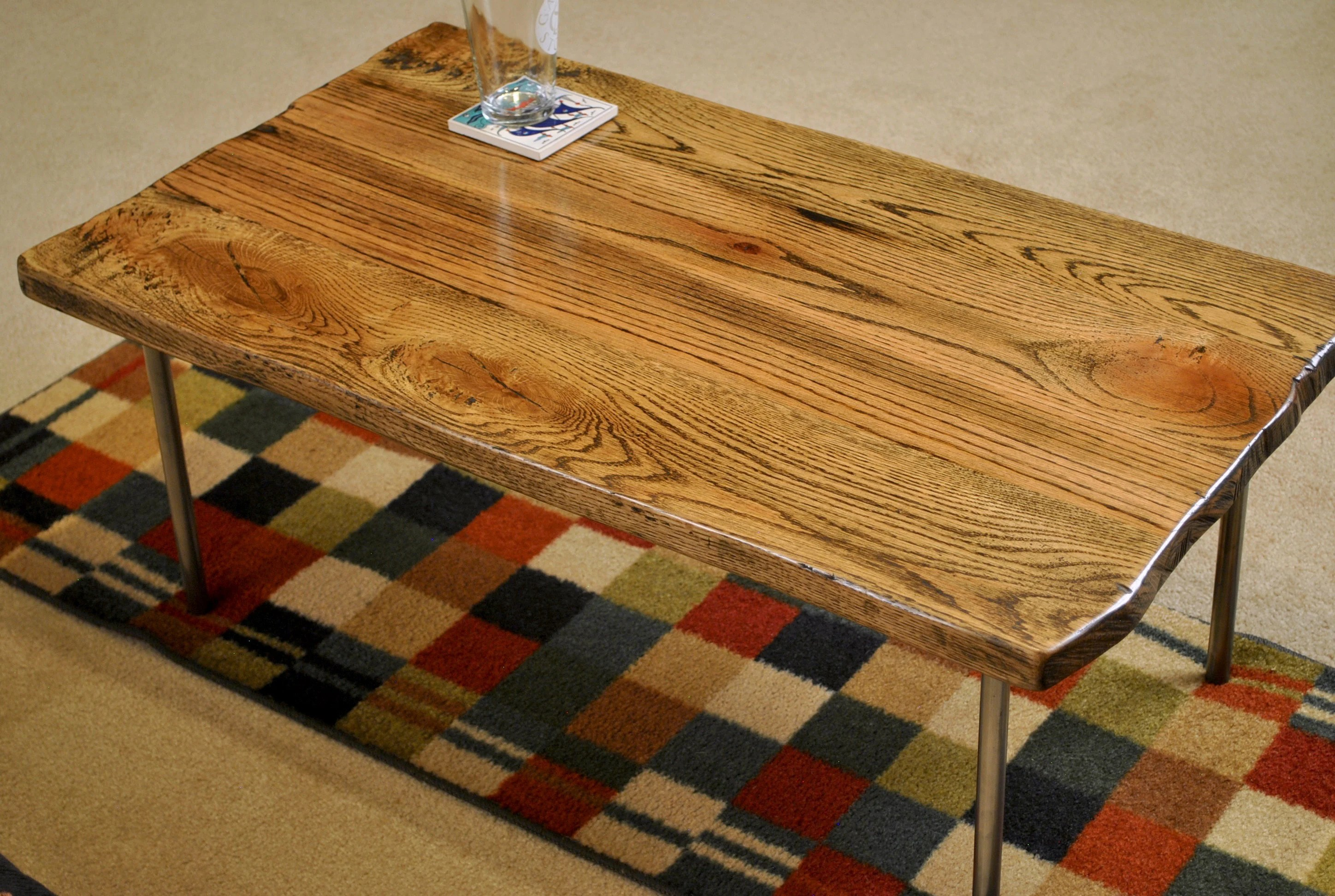 red coffee table etsy