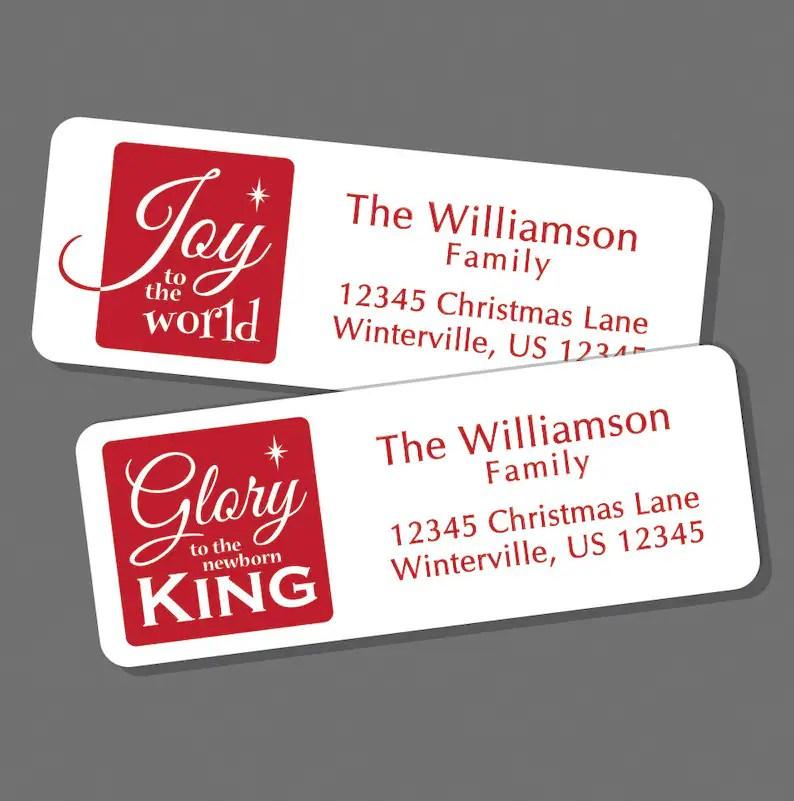 christian christmas address labels