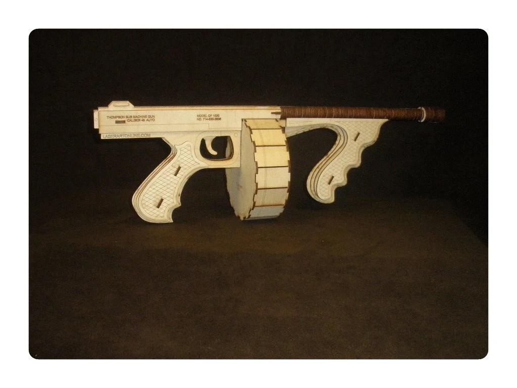 Wooden Tommy Gun