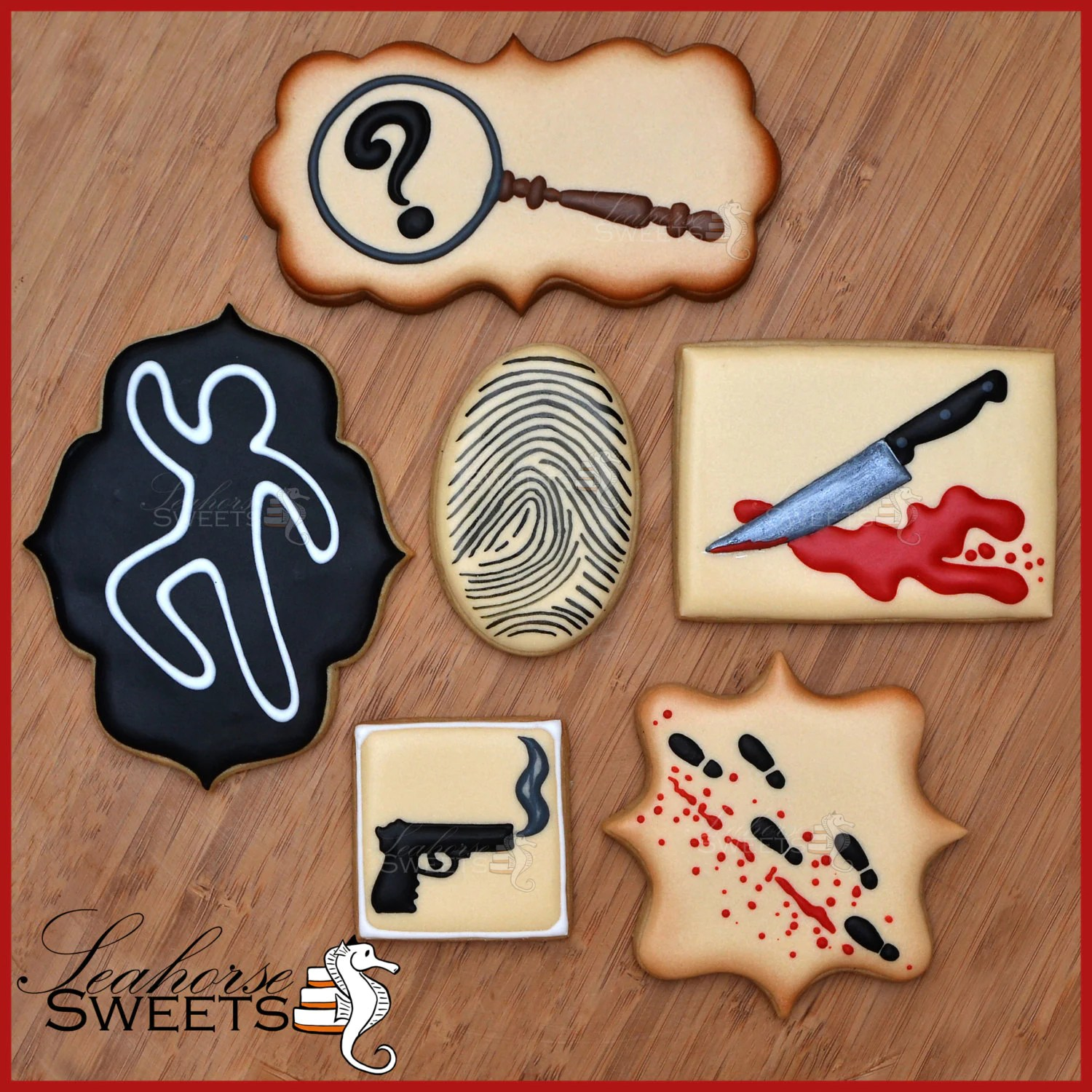 Murder Mystery Cookies Clue Inspired Quantity 12