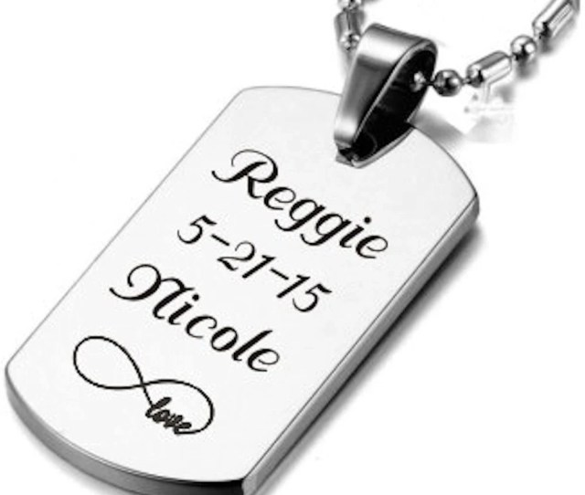Custom Dog Tag Small Silver Dog Tag Necklace Custom Engraved Free Personalized Necklaces Stainless Steel Dog Tags Personalized Jewelry