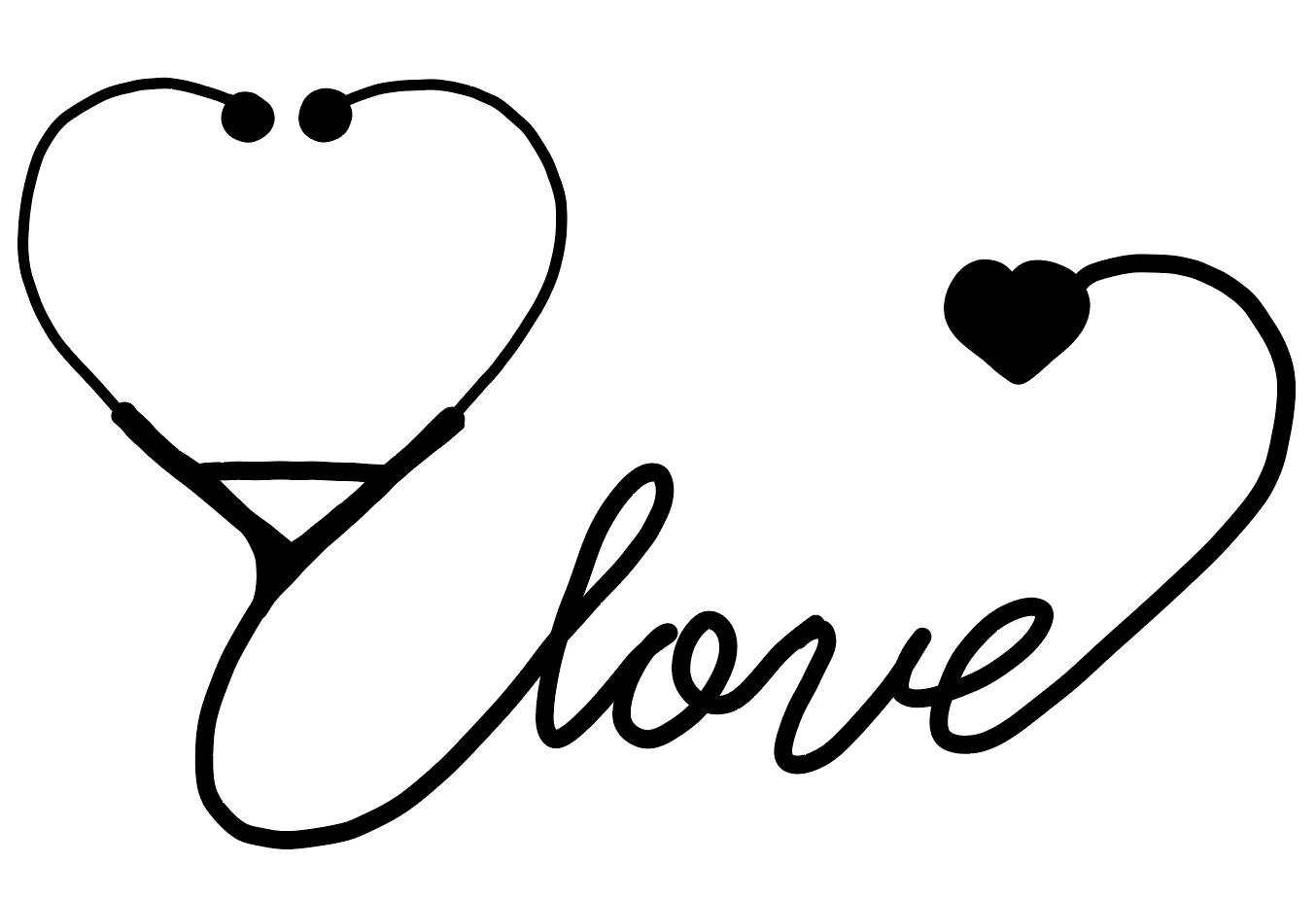 Love Stethoscope Nurse Doctor Veterinarian Vet Tech Svg