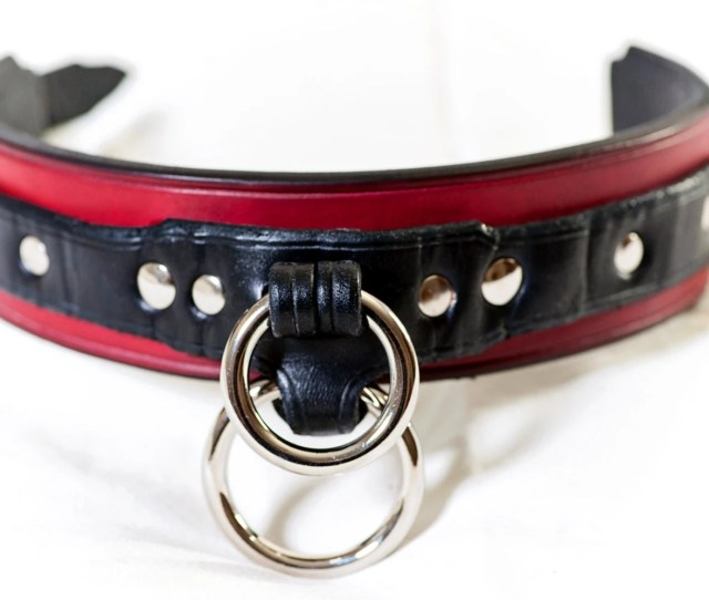 Leather Bdsm Collar Leather Slave Collar Bondage Collar For Submissive Dual Ring