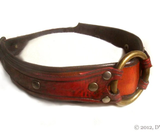 Leather Bdsm Collar Slave Collar Bondage Collar For Submissive With Captive Ring