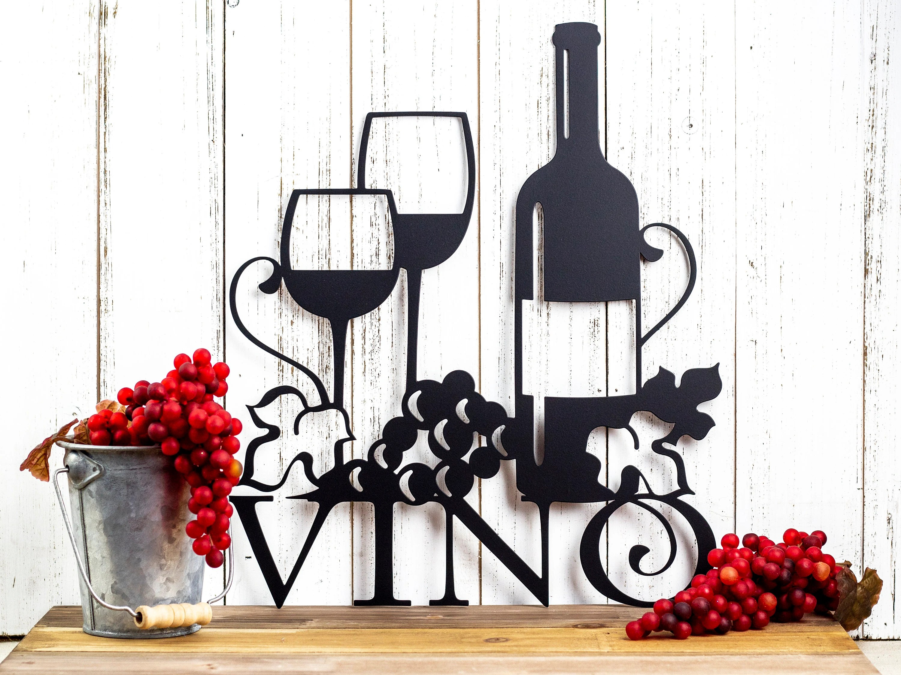 Wine Decor Etsy