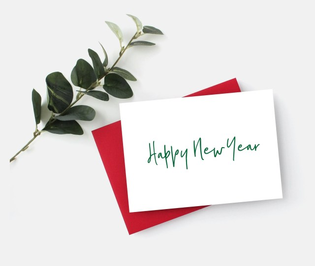 Happy New Year Card Simple Holiday Corporate Holiday Card Simple New Years Cards Office Holiday Card New Years Greeting Card New Year