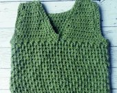 Crochet toddler boy vest ...