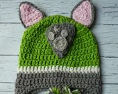 Crochet Rocky Paw Patrol hat mitten set toddler child PDF Pattern Instant Download gift present
