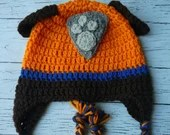 Crochet Zuma Paw Patrol hat mitten set toddler child PDF Pattern Instant Download gift present