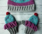 Toddler crochet cupcake m...