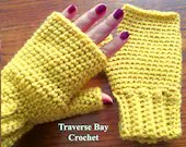 Adult Crochet Fingerless ...