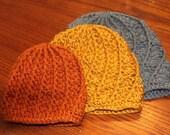 Crochet Beanie Hat Baby Toddler Adult spiral textured 3 sizes PDF Instant Download Pattern gift present