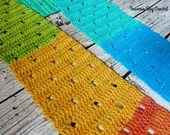 Crochet Filet scarf pattern PDF instant download present gift craft shows neck warmer MI designer