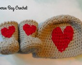Newborn Baby Heart Hat Bo...