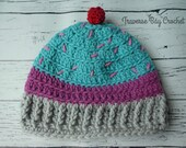 Toddler crochet cupcake h...