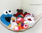 Crochet storage toy hammo...