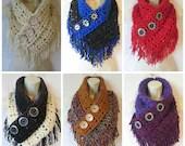 Crochet fringe triangle c...