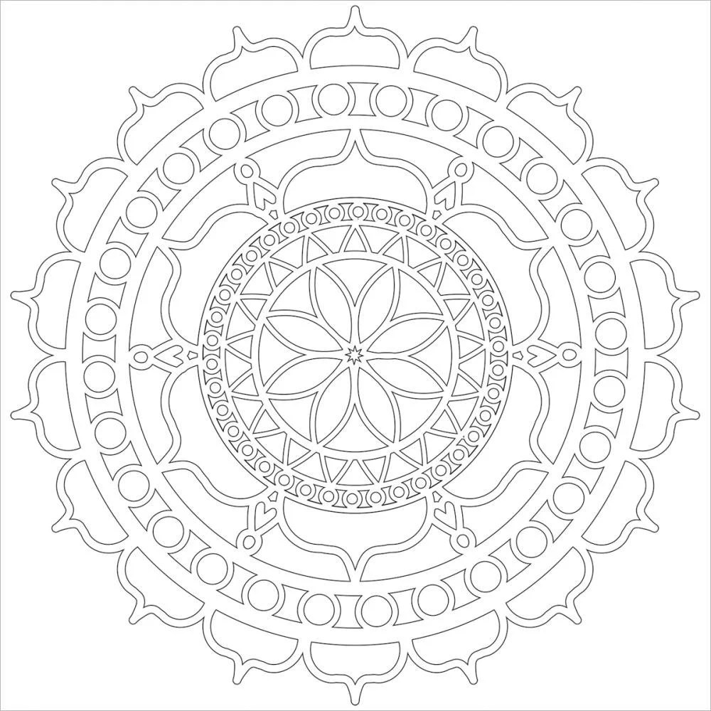 Rosetta 12 x12 Stencil / template design perfect for mixed