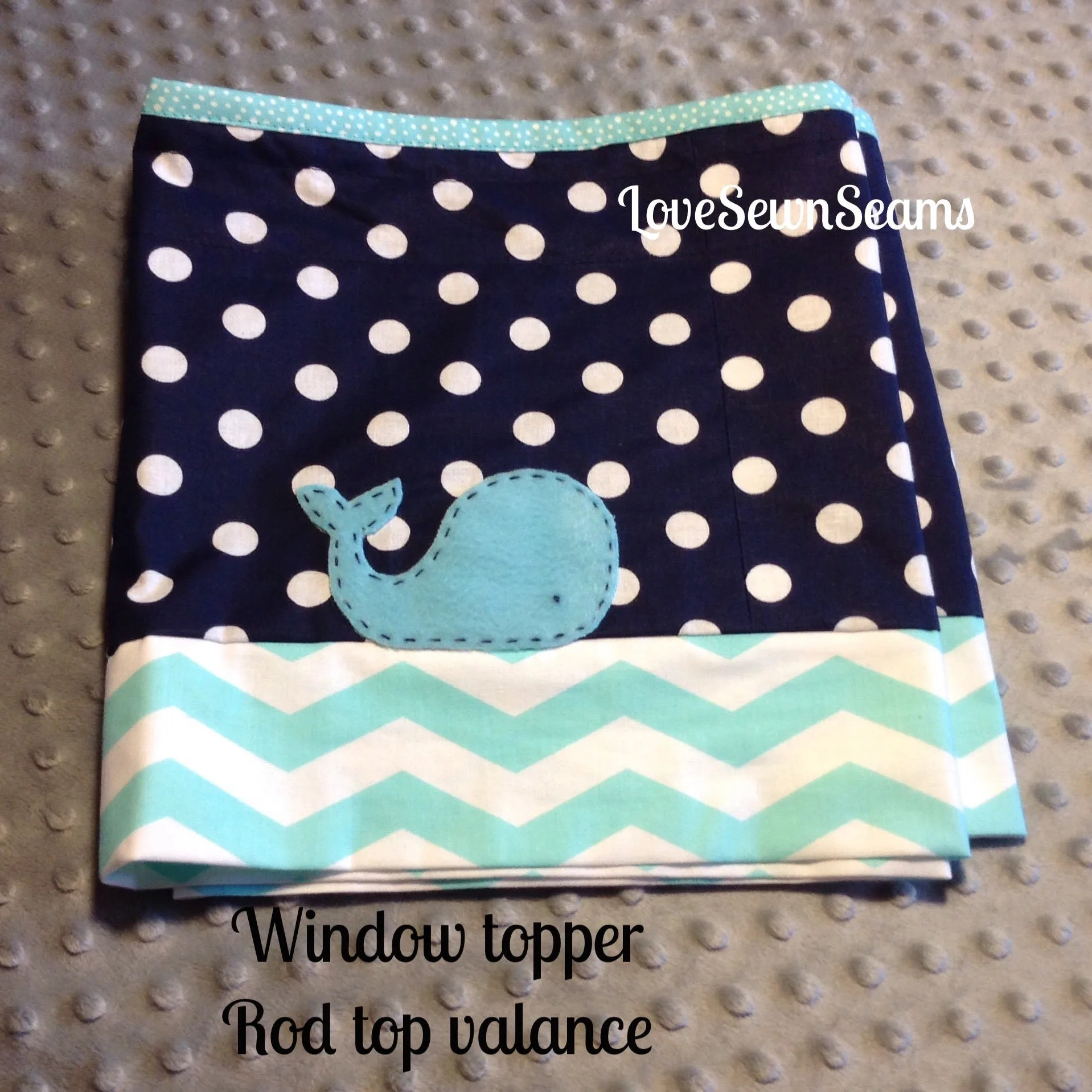 Custom Window Topper Valances Window Treatment Nautical