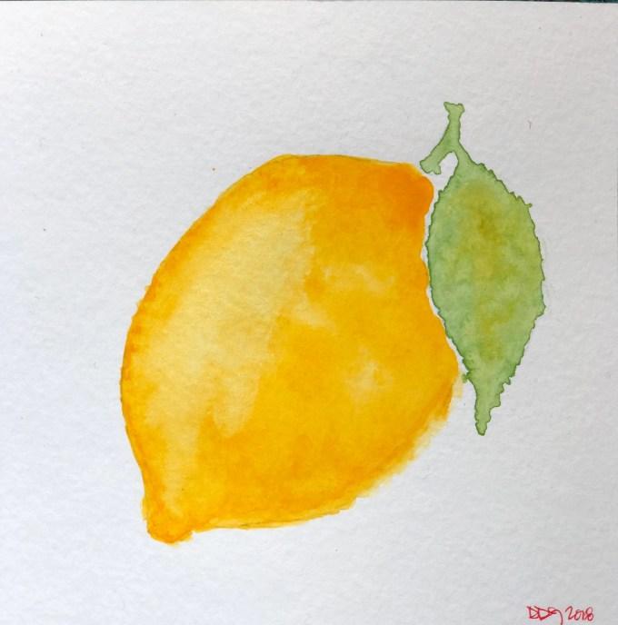 The Lemon, original watercolor painting (no frame)