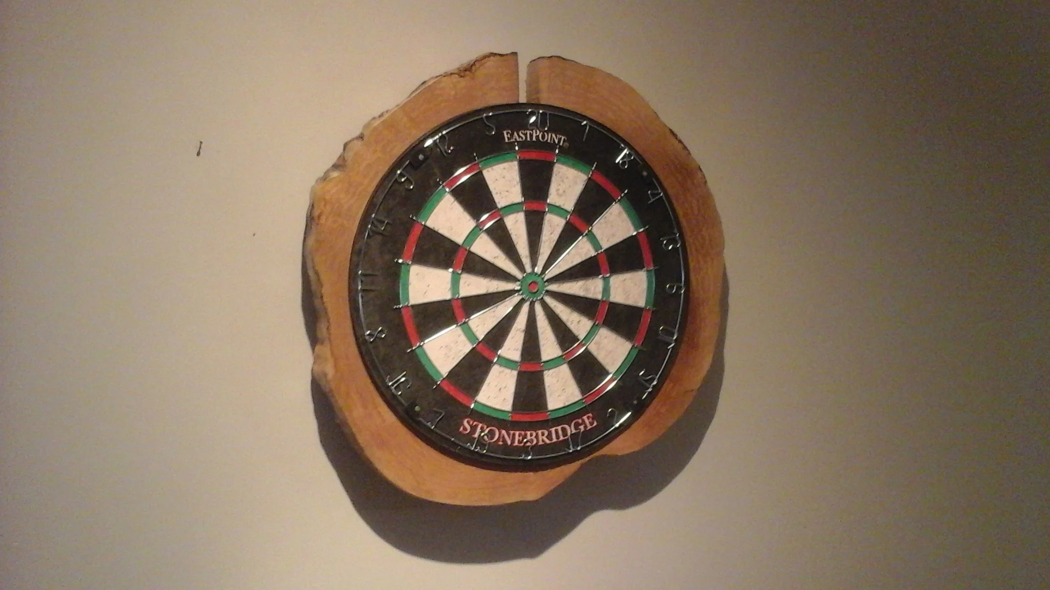 live edge dart board
