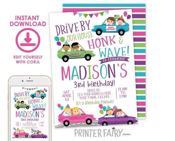 drive through birthday party