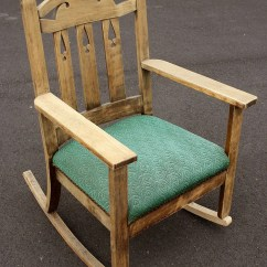 Arm Chair Rocker Plastic Chairs Cape Town Antique Vintage Victorian Fabric Wood Wooden Rocking Armchair Etsy Image 0