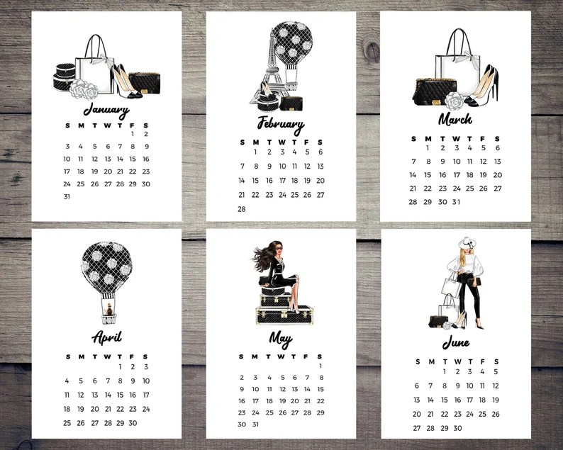 2022 Calendar A Walk to Lovely Paris Planner Dashboards for image 0