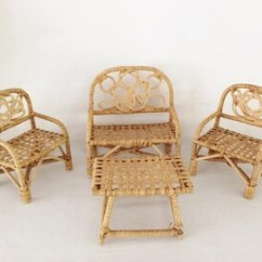 Childs Rattan Chair Exercise Ball Office Workout Child Etsy S Doll Furniture Set Vintage Accessories Wicker