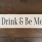 Eat Drink And Be Merry Sign Farmhouse Sign Rustic Decor