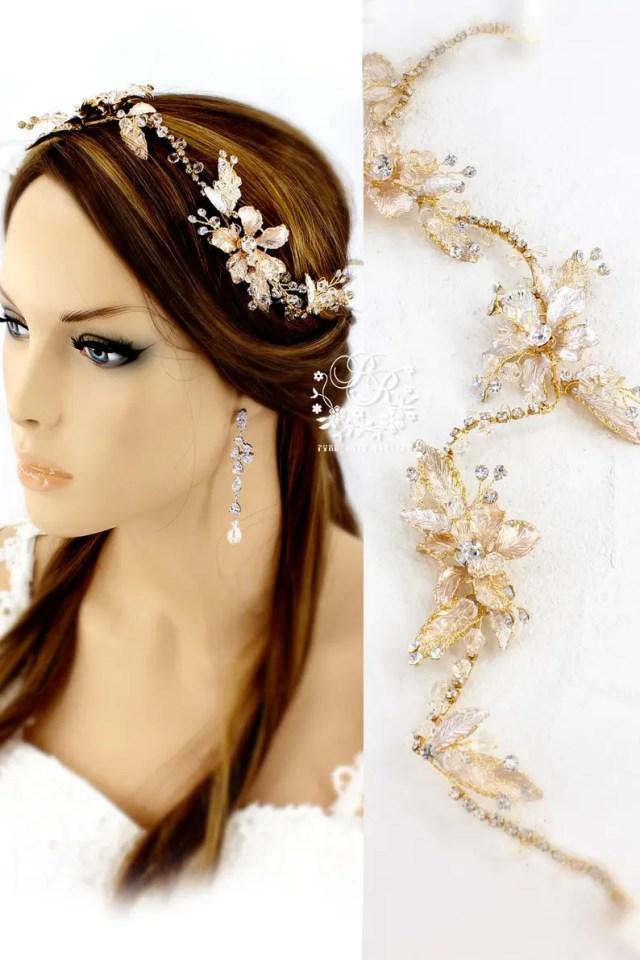 wedding ribbon headband bridal headpiece bridal hair comb bridal hair vine wedding hair accessories bridal hair piece wedding hair piece