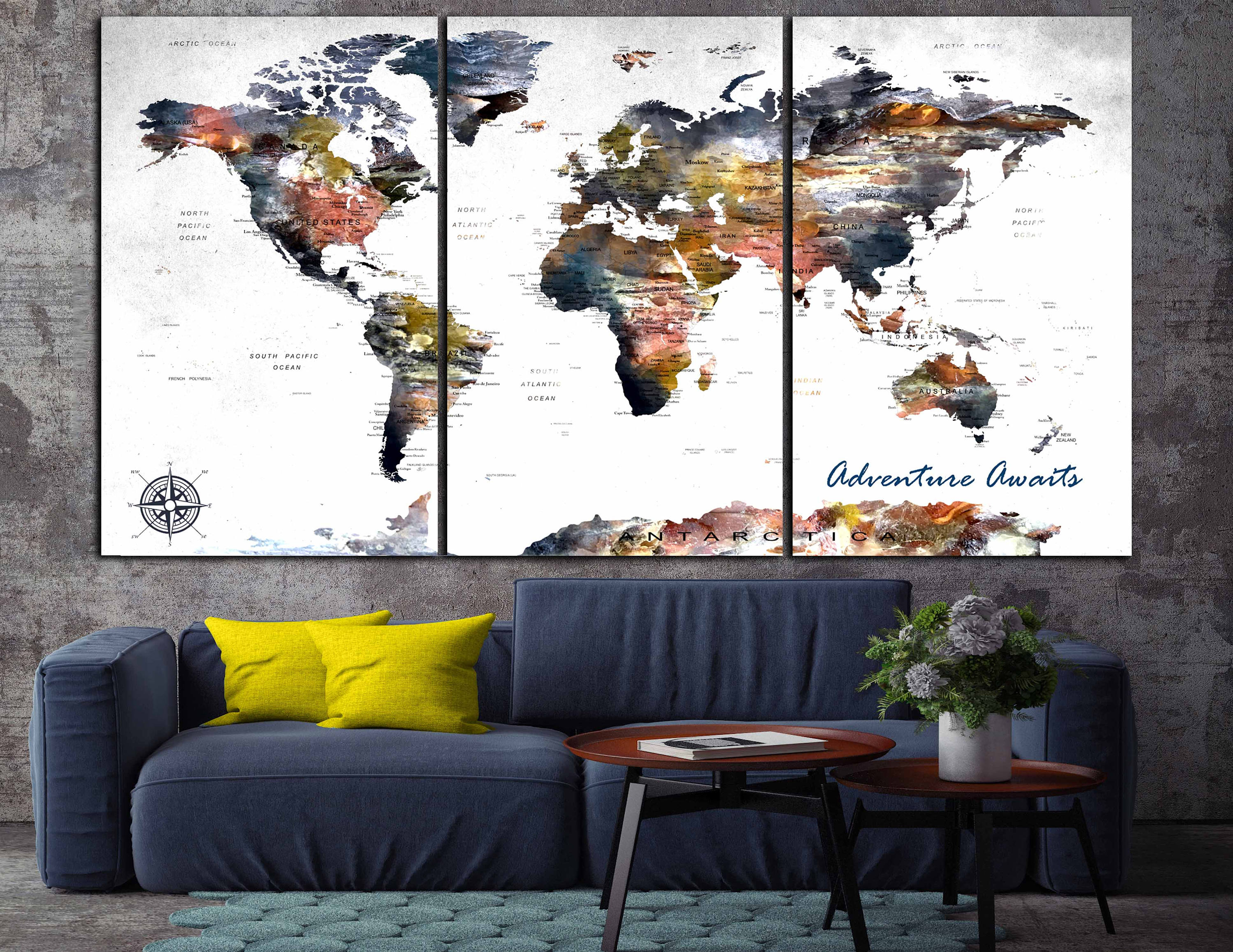 World map canvas large world map world map wall art large map panels world map canvas large world map world map wall art large map panels gumiabroncs Gallery