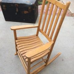 Small Rocking Chairs Corporate Chair Massage Etsy Porch Rocker Oak Wood Wooden Southern Urban Americana Furniture