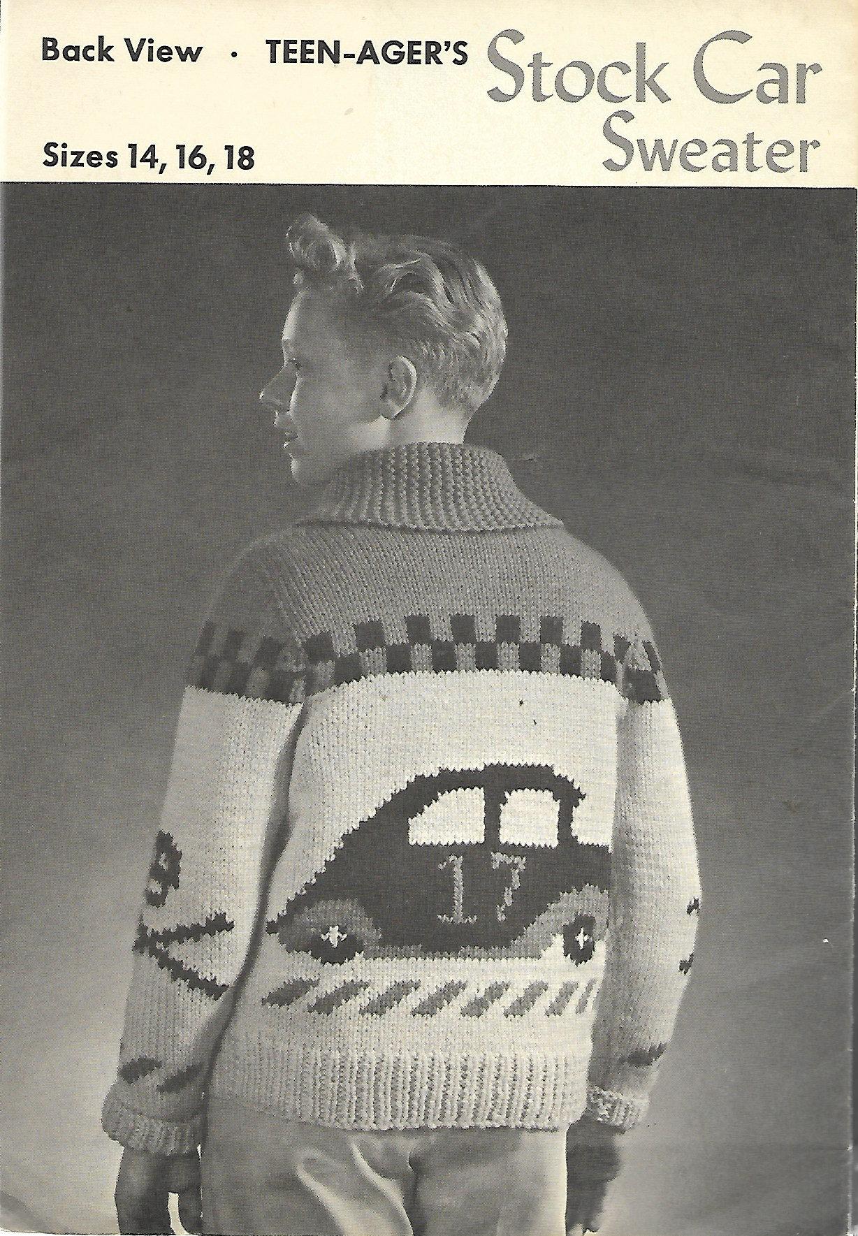 Stock Car Sweater Knitting Pattern Graph Racing Car Flags