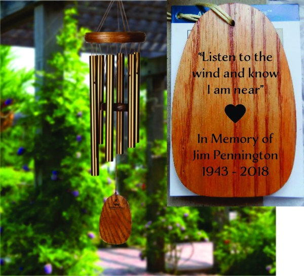 Personalized Memorial Tribute Wind Chime Bronze Windchime