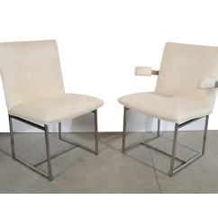 Milo Baughman Dining Chairs Stadium Walmart 6 Chrome Etsy Image 0