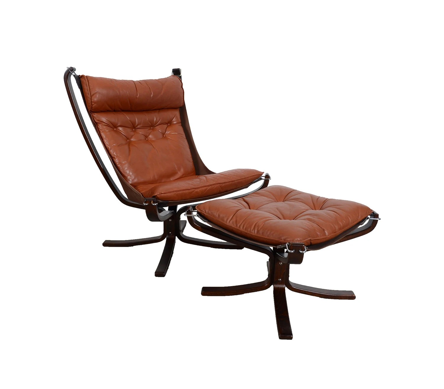 Falcon Chair Leather Falcon Chair And Ottoman Made By Vatne Mobler Designed By Sigurd Ressell Norway Danish Modern