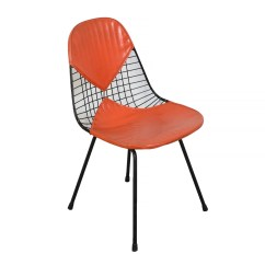 Eames Chair Herman Miller Steelcase Bob Wire Venice Ca Original Orange Etsy Image 0